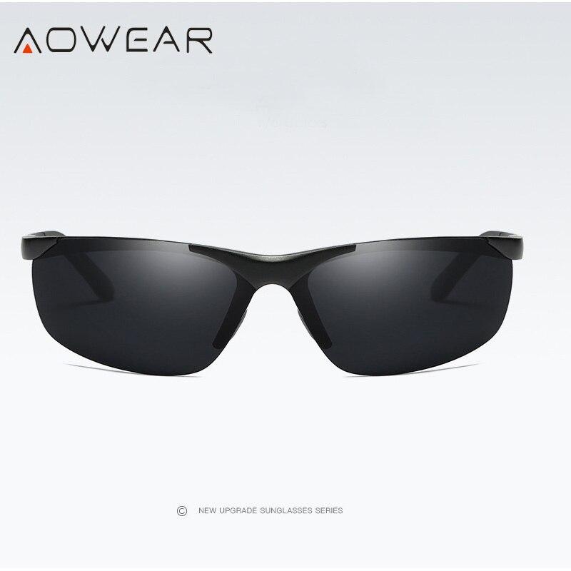 Image 3 - Aowear男性hd偏光サングラスメンズアンチグレアミラー太陽メガネアルミフレームスポーツ屋外運転釣り眼鏡polarized sunglasses menpolarized sunglasseshd polarized sunglasses -