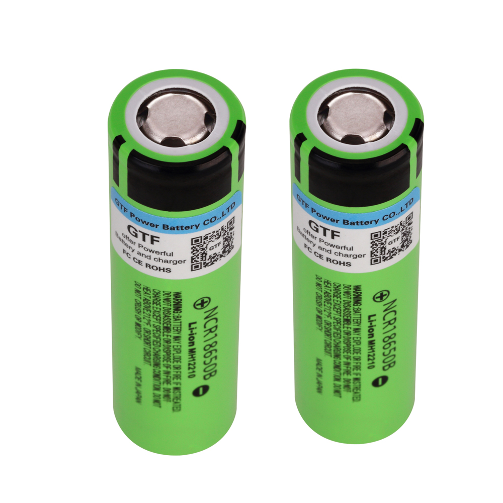 GTF New 100 Original 18650 NCR18650B 3 7v 3400mah for Panasonic 18650 Lithium Rechargeable Battery For Flashlight batteries in Replacement Batteries from Consumer Electronics
