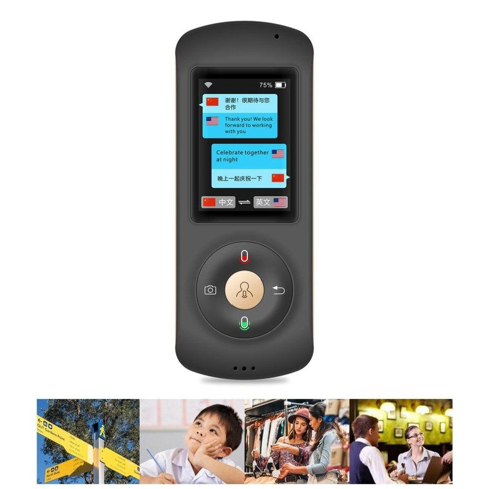 Портативный мини Wifi мгновенный голосовой умный переводчик в реальном времени переводчик 28 устройство для изучения языка для деловых встреч