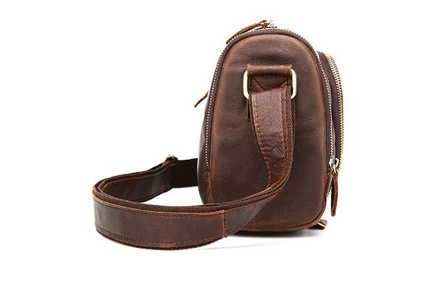 2017 years hot leather men's bag fashion leisure retro shoulder bag, Messenger bag crazy horse skin men bag,pinepoxp