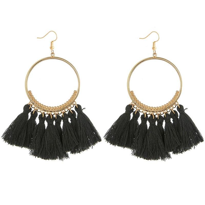 cjh005 Christmas Tassle Tassel Earrings Drop Fringe Earrings