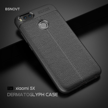 For Xiaomi Mi A1 Case Soft Silicone PU Leather Anti-knock Phone Cover 5X A1/