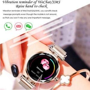 Image 4 - H1 smart watch女性心拍数血圧フィットネス歩数計女性ブレスレット生理サイクルIP67防水スマートウォッチ