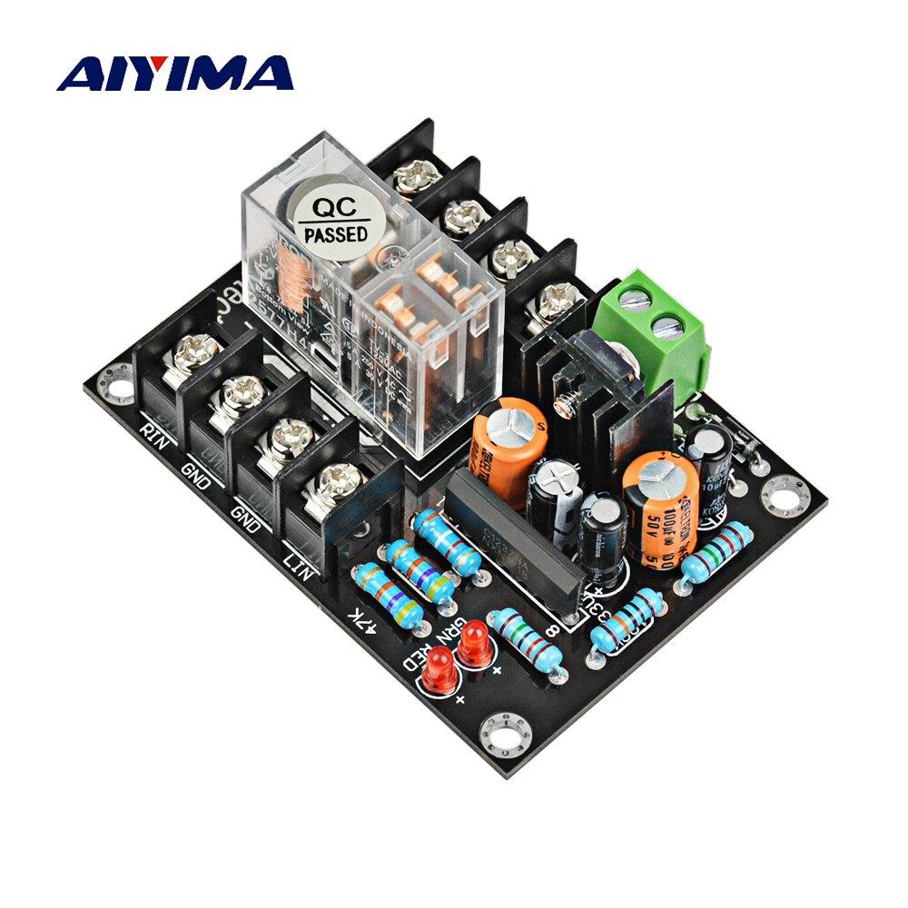 Aiyima alto-falantes portáteis de áudio 2.0 alto-falante placa protetora ac 12 v-18 v relé placa de proteção