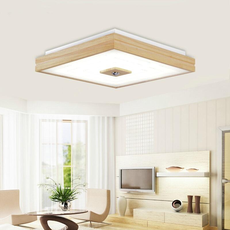 EICHE Aufbau Moderne Led Deckenleuchten Fr Wohnzimmer Schlafzimmer Platz Indoor Holz Deckenleuchte Beleuchtung Leuchten