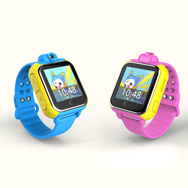 """Crianças smart watch 3g mais novo com câmera 1.54 """"tela de toque anti-perdido sos tracking real-time monitor suporte simcard gprs wi-fi"""