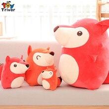 Quality Plush Fox Toy Stuffed Foxes Doll Sofa Cushion Pillow Kids Children Baby Boy Friend Birthday Gift Home Shop Decor Triver стоимость