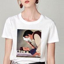Летняя футболка Белоснежка забавная модная футболка с принтом пародия личности Harajuku забавная Повседневная тонкая футболка женская одежда