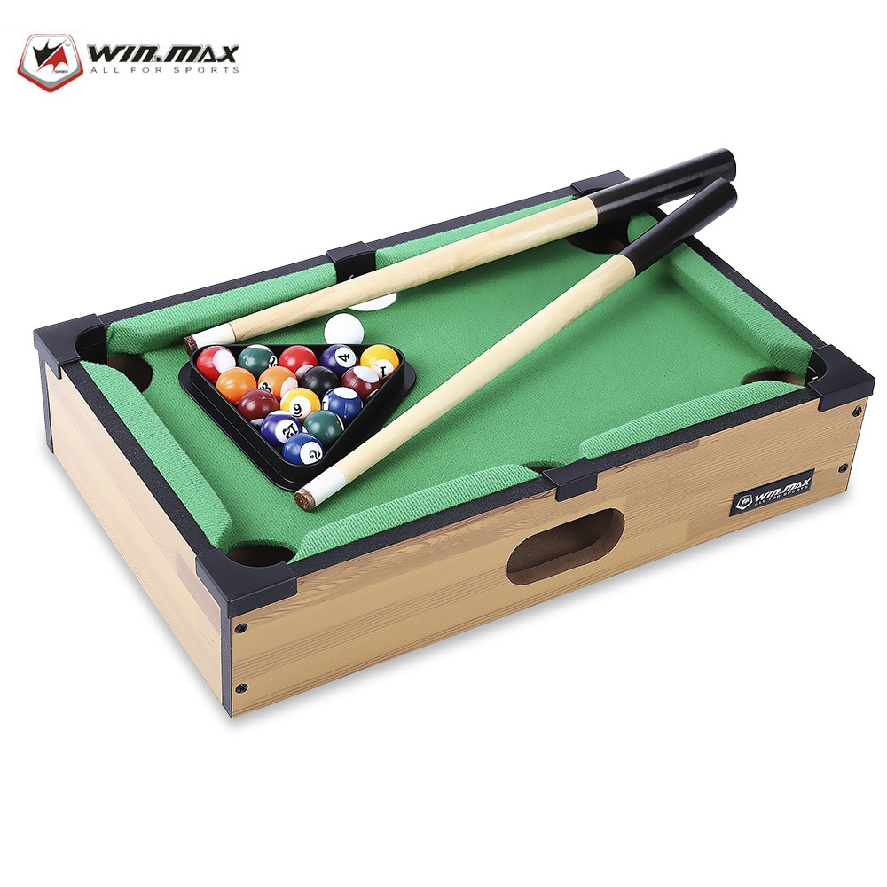 WIN MAX Mini Table Billiards Hot Sale Funny Mini Size Table Billiards Game Accessory For Game Rooms Bed Rooms College dorms