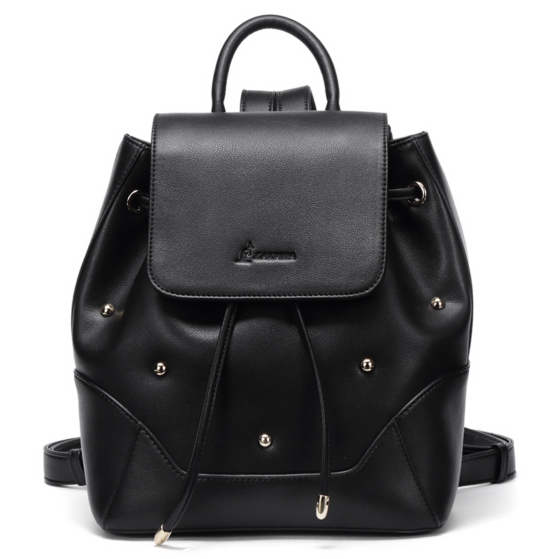 Backpack Women 2018 New Korean Version of The Simple First Layer of Leather Tassel Backpack Casual Fashion Leather qiaobao 2018 new leather backpack cowhide shoulder bag fashion korean version of the wave backpack simple fashion bag