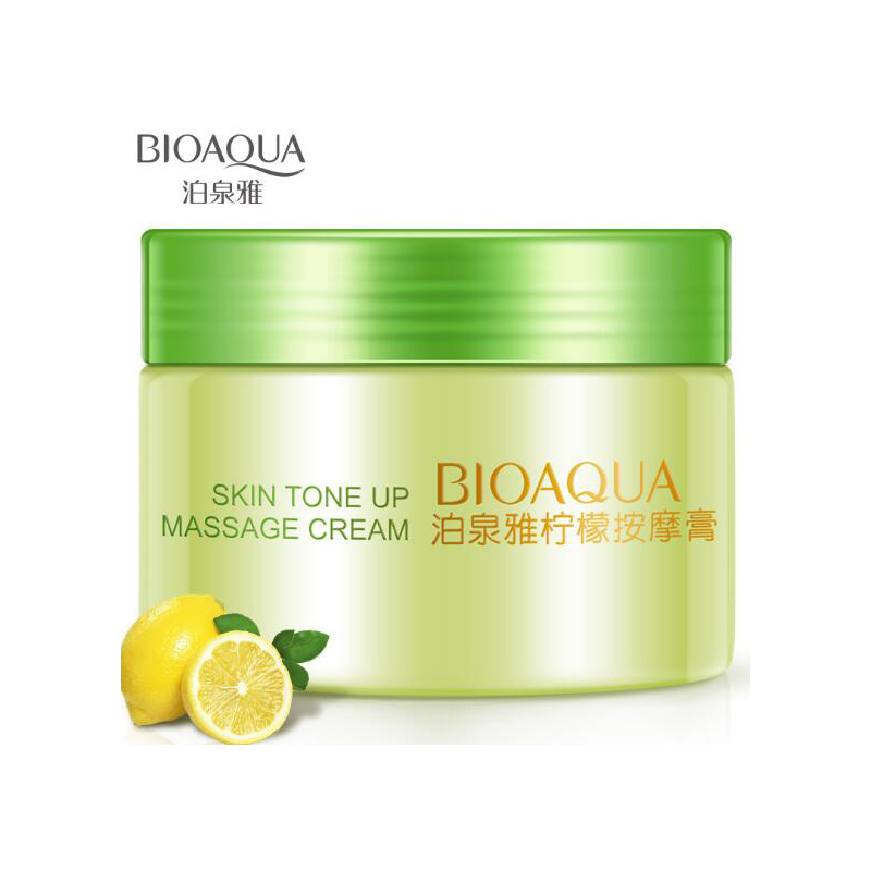 BIOAQUA Lemon Massage Cream Gel 120g Face Care Treatment Cleansing Cream Hydrating Moisturizing Face Skin Care