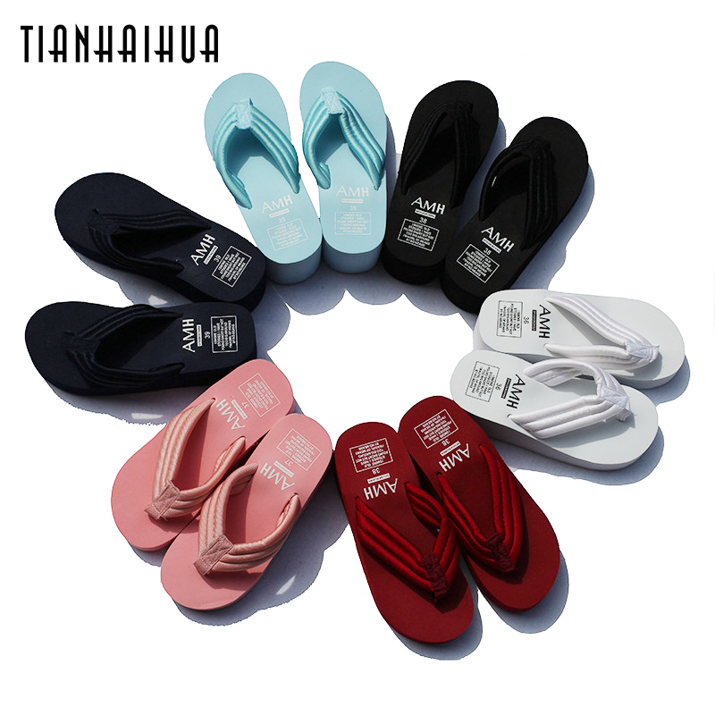 Women Slippers Summer 2018 Wedge Jelly Sandals Flip Flops Platform Solid Slipper Beach Shoes Home Indoor Slipper Cheap SUM02 цена