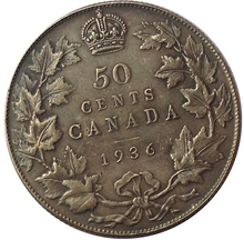 1936 Canada 50 Cents Coins COPY(China)