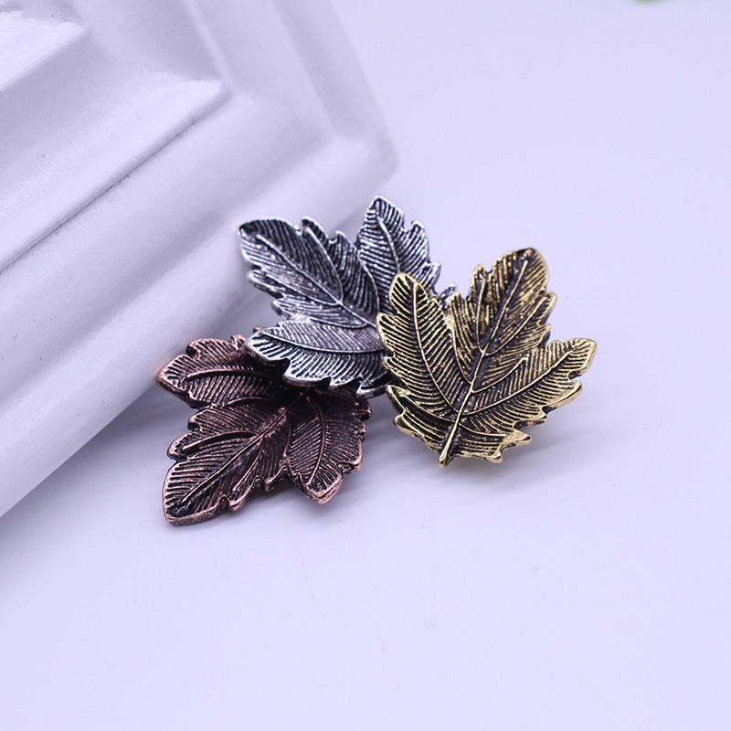 DIY Charm Broche Mujer Vintage Pin Brosch Maple Leaf Form Broscher - Märkessmycken - Foto 6
