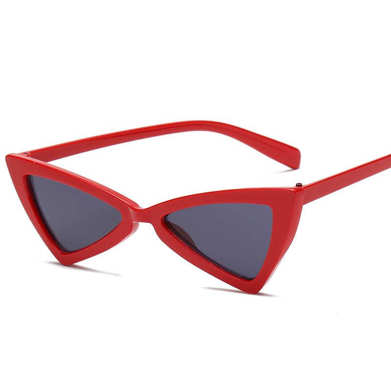 2019 óculos de Sol Do Olho de Gato Sexy Triângulo Quadro Leopard Várias Cores Opcionais Óculos Mulheres Óculos De Sol de Plástico Para Sunglases