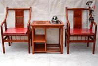 Chinese antique mahogany wood furniture rosewood chair chair three piece tea table seat palace tea table combination