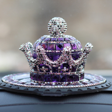 Car Ornament Crystal Crown Air Freshener Diamond Automobile Dashboard Decoration