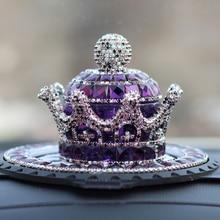Car Ornament Crystal Crown Air Freshener Diamond Automobile Dashboard Decoration Auto Perfume Fragra