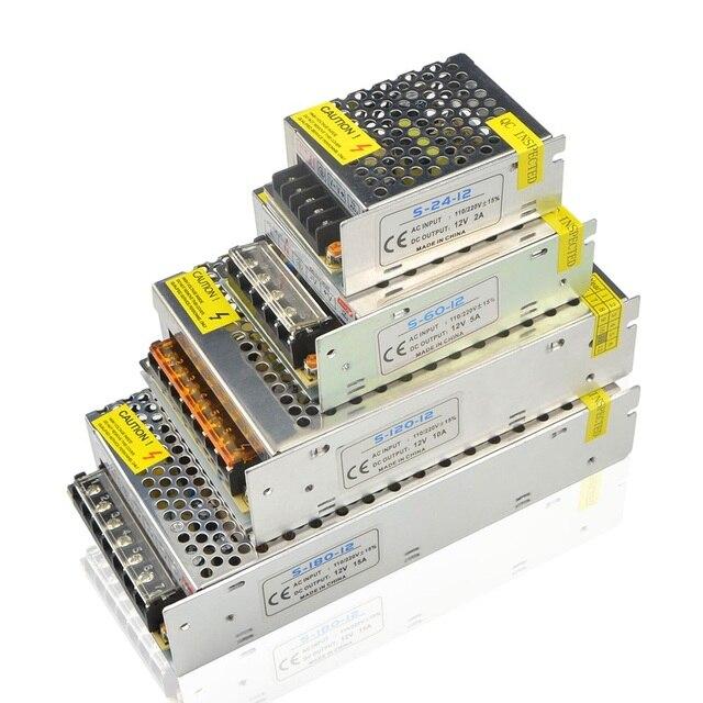 אספקת חשמל led נהג AC 220V כדי DC 12 V 1A 3A 5A 8A 10A 15A 20A 12 וולט מטען step down מתאם תאורת שנאי