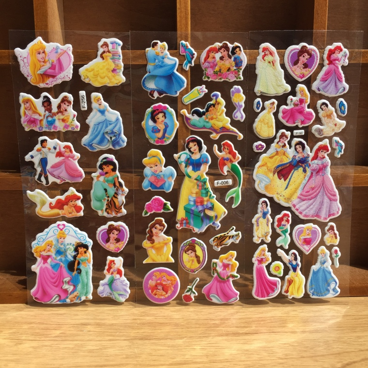 25pcs princess foam sticker kids happy birthday party supply baby shower party favor return gift souvenirs for boy girl