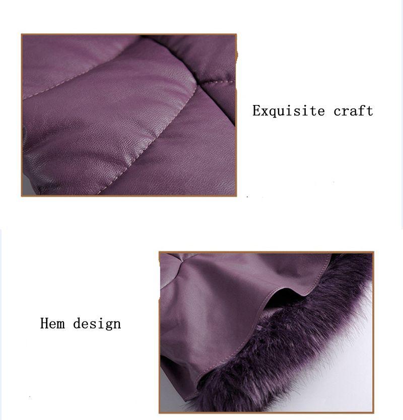 Slim Fourrure Femmes Haute Coton Grands Chantiers Court Mode Manteau gray Hiver Black Qualité Dernière Artificielle Parkas Veste 2017 Nz325 Rembourré purple Casual WqS8tf7Zwn