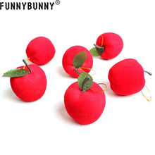 FUNNYBUNNY 12pcs Christmas Tree Decorations Hanging Red Apples Foam Xmas Ornaments Party Gift