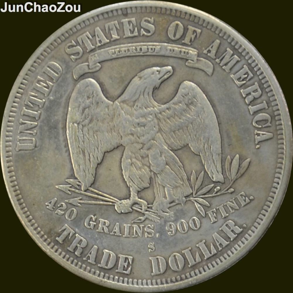 United States 1876 S Seated Liberty Brass Silver Plated