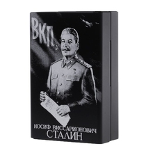 Boxes-Holders Cigarette-Boxes Stalin Portable Union Will Laser Carved Soviet Aluminium-Alloy