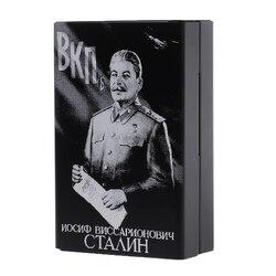Boîte à cigarettes en alliage d'aluminium | Sculptée au Laser, Union soviétique Stalin, ne se décolore pas, boîtes à cigarettes portables, supports de boîtes