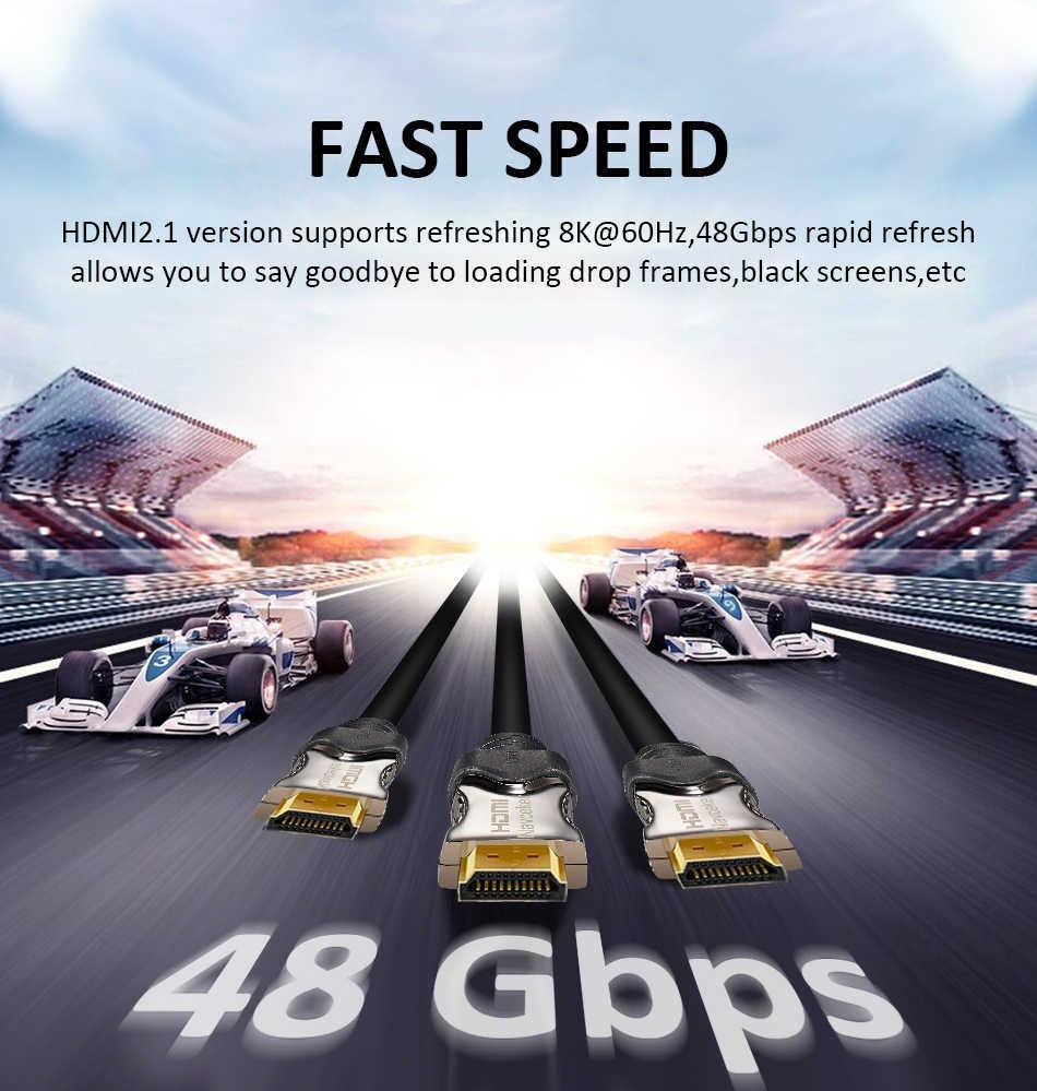 2020 最高 8 18k 48 5gbpsの 2.1 hdmiケーブル 4 hdmi 2.1 ケーブルearcカボhdmi 2.1 uhdダイナミックhdr hdmi 2.1 ケーブル 8kサムスンqledテレビ