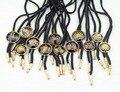 Nuevo Envío Libre de moda casual masculina de LOS HOMBRES Americano Poirot Empate cuerda blusa cuello crystal flowers Báltico con Bolo Tie promotio