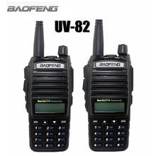 2-TLG BAOFENG UV-82 VHF UHF 128 CHS Handfunkgerät Mit LCD FM Radio Receiver CB Radio Dual-ptt Starten Schlüssel taschenlampe