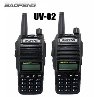 2 PCS 2014 New Black Baofeng UV 82 Two Way Radio Dual Band UV137 174 400