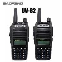 2 PCS 2014 New Black Baofeng UV 82 Two Way Radio Dual Band UV137 174 400