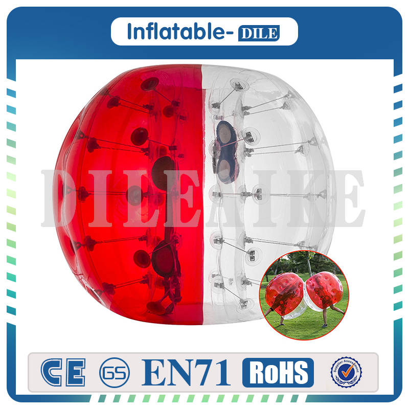 Free Shipping Inflatable Bumper Ball Human Knocker Body Zorb Ball Bubble Soccer 1.0m Diameter