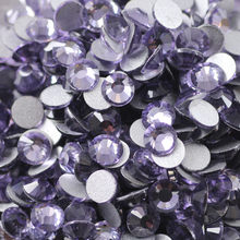 100pcs Cute Crystal Tanzanite Round Flatback Crystal Nail Rhinestone Different Sizes SS3-20 RS-33(China)