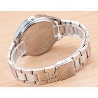 Мода Кристалл аналоговые кварцевые нержавеющая сталь Группа для женщин браслет наручные часы