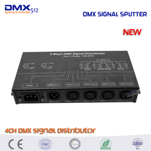DHL free shipping 4CH DMX512 amplifier/Splitter/DMX signal repeater/4 output ports DMX signal distributor