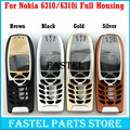 For Nokia 6310 6310i High Quality Brandnew Mobile Phone Housing Cover Case ( No Keypad ) + Free Tools, Free Shipping