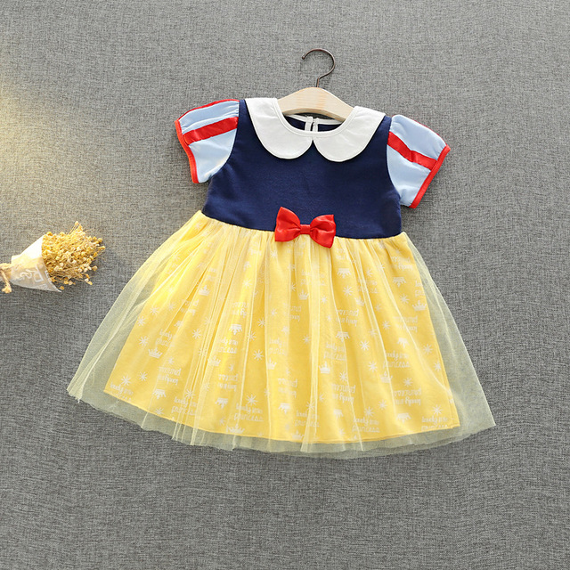d31b0f6ff527c US $13.14 49% OFF|Summer Girls Clothing Snow White Dress Girls Princess  Costume Children Christmas Clothing Kids Casual Cotton Dress with Cloak-in  ...