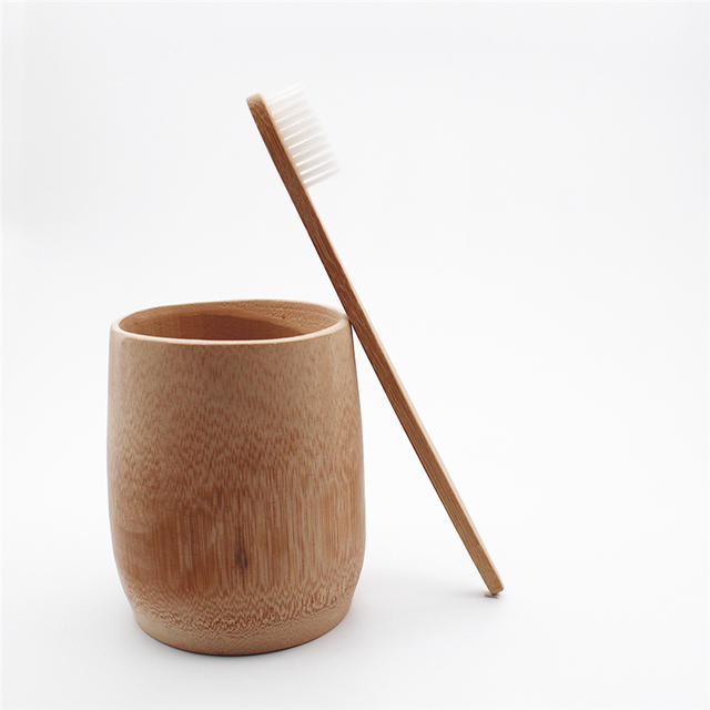 1 piezas adultos cepillo de dientes de bambú blanco cerdas suaves tandenborstel fibra de madera mango bajo carbono ambientalmente Hotel cepillo de dientes
