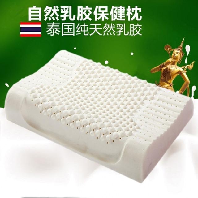 $ US $16.42 Thailand Import Natural Latex Cervical Vertebrae Health Care Orthopedic Massage Natural Latex Pillow Slow Rebound 30x50/40x60cm