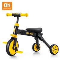 Çocuk Üç Tekerlekli Bisiklet Katlanabilir 1-3 Yıl Bisiklet Bebek Bisiklet Çok fonksiyonlu Yürüteç Denge Araç