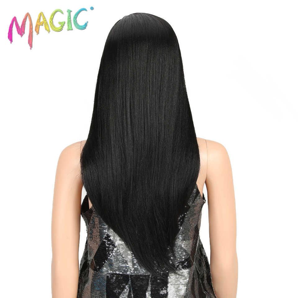 Perruque synthétique MAGIC Hair, Ombre douce, perruque bob lace front wig de 8 à 24 pouces en Fiber résistante à la chaleur, pour femmes noires/blanches