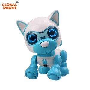 Image 1 - Robô cachorro filhote de cachorro brinquedos para crianças interativas brinquedo presente de aniversário presentes de natal robô brinquedos para a menina do menino