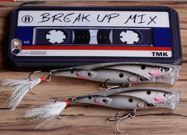 new release 8 colors Hard surface plastic popper baits fishing school Crank bait 10cm /14G for sea game fishing Poper Floating