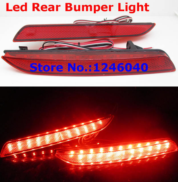 2PCS LED Tail Red Rear Bumper Reflector Light Lamp Stop
