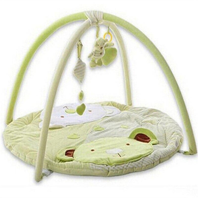 Infant climb plush toys rug baby cartoon animal play gym mat kids cotton sounding learning education crawling carpet green  цены