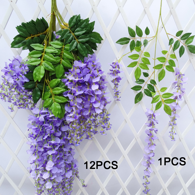 31.5/'/' Artificial Lavender Vine Flowers Garland Ivy Plants Hanging Stamen leaves
