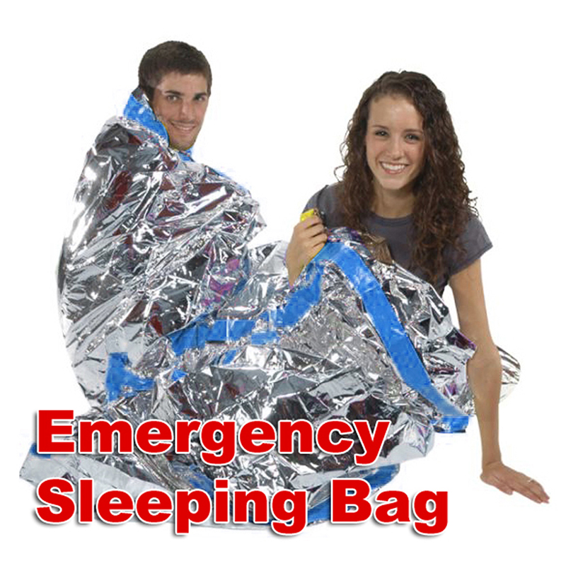 New Arrivals Portable Waterproof Reusable Rescue Space Thermal Sleeping Bag For One Person Outdoor Sports Emergency Blanket